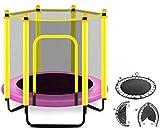 Trampoline Enfants Trampoline for Enfants Trampolines Trampoline Rond avec boîtier Net- intérieur ou extérieur Trampoline for Les Enfants, Maison/Bureau Cardio Formateur Trampolines intérieur Trampo