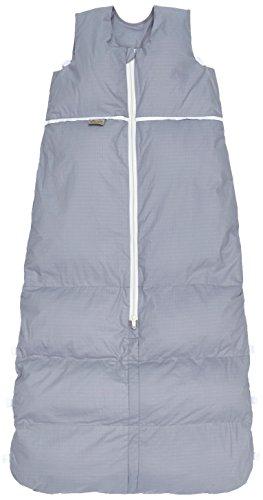 Premium Daunenschlafsack, längenverstellbar, Alterskl. älter 24 Monate, Silver uni Pünktchen, 130 cm