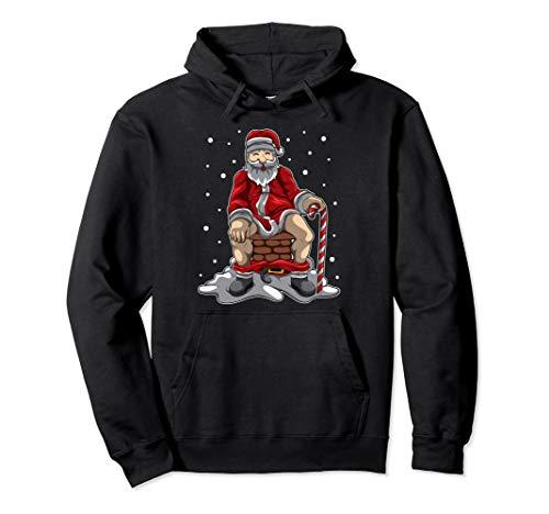 Weihnachtsmann kackt in Kamin - Weihnachtliche Vergeltung Pullover Hoodie
