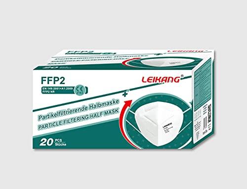 Leikang FFP2 Atemschutzmaske Mundschutz Maske, LEIKANG, Lk-008, Weiß, 20 stück