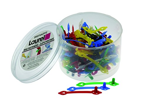 Laurel Briefknopf Sigma aus Polyethylen, 48 mm, grundfarben sortiert
