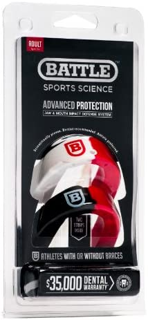 Battle 2 Color Mouthguard 2 Pack Red Adult product image