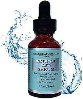 Retinol 25% Suero por esencia de Arcadia profesional fuerza Anti- Envejecimiento fórmula con ácido hialurónico y vitamin...