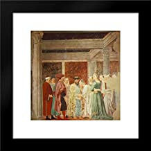 Meeting Between The Queen of Sheba and King Solomon 15x15 Framed Art Print by Piero Della Francesca