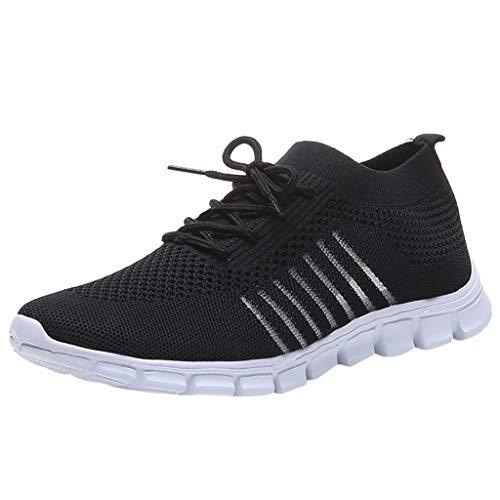 ZODOF Zapatillas de Mujer Deporte Planas de Malla Transpirable Casuales de Zapatos de Malla Aire Libre Slip Casual en Suelas cómodas Running Deportivos