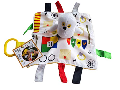 Baby Wizard Lovey Magical Snow Owl Tag Blanket Stroller Toy 10'x 10'