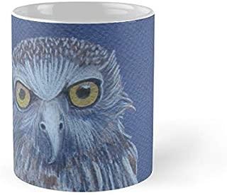 Australian Powerful Owl Colour Pencil Art 11Oz Mug - Best Gift For Family Friends.