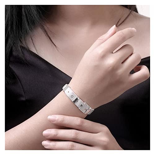 YURG Silver 10/12 / 14mm Montre Web Bouchons Bracelets Bracelets pour Femmes Hommes Mariage Engagement Bijoux (Color : 10mm)