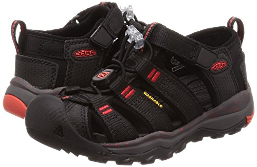 KEEN スポーツサンダル 1018431 キッズ Black Fiery Red US 9 16 cm