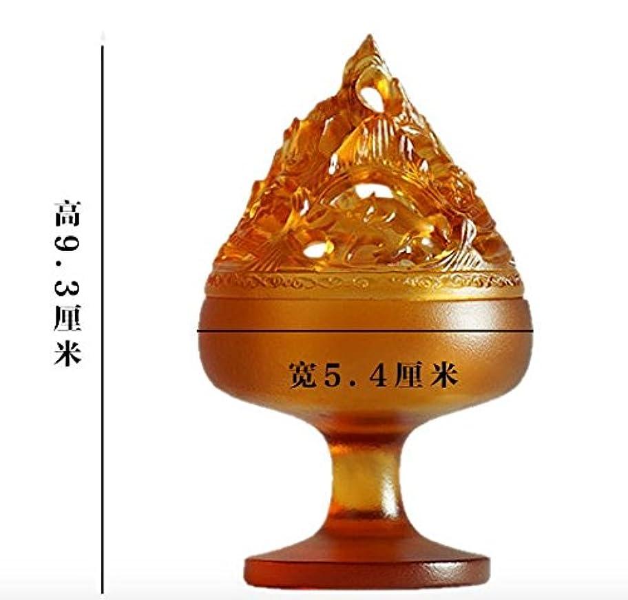 発送うなずくプロット【Lenni】仿古博山炉 香道 博物館模倣 瑠璃アロマ香炉 沉香熏香炉
