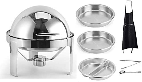 6 Quart Chafer unisex Chafing Dish All items free shipping Round Stainless Top Roll St Bundle