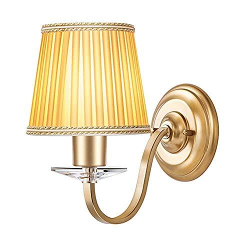 PSOU Wandlamp, Europese wandlamp, klassieke stof, lantaarn, slaapkamer, hal, restaurant, boek, woonkamer, verlichting, wandlamp, nachtkastje, wandlamp, goudkleurig