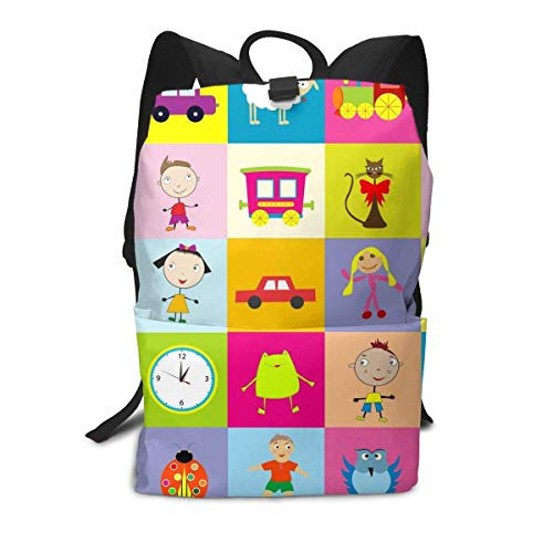 Homebe Amusement Park Locomotive Train Animal Rucksäcke,Daypack,Schulrucksack Für Jungen und Mädchen Travel Hiking Small Gym Teen Little Girls Youth Boy Women Men Kids Backpack