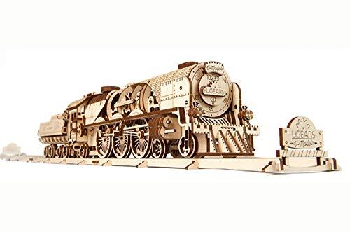 UGEARS V-Express Tren de Vapor - Set de Construcción Puzzle