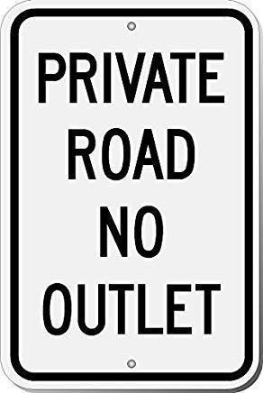 wendana privé weg geen stopcontact teken grappige werf decoratieve tekens voor buiten Thuis metalen muur teken veiligheid teken 8