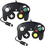 CFIKTE Gamecube Controller, Classic Wired Controllers Compatible with Wii Nintendo Gamecube(Black) (2 Pack)