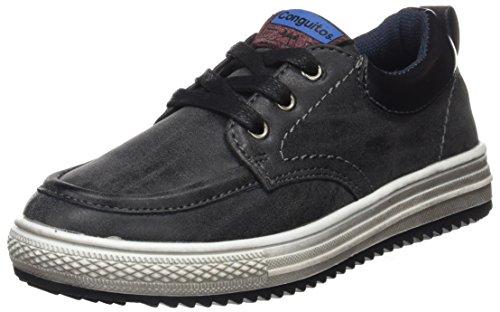 Conguitos Niño, Zapatos de Cordones Derby para Niños, Negro (Negro), 34 EU