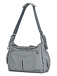 Features a lot of accessories: Insulated bag, changing mat, transparent pocket, soother pouch Wide opening Very handy and comfy thanks to the shoulder strap Contemporary shape Quality fabrics Lifetime warranty
