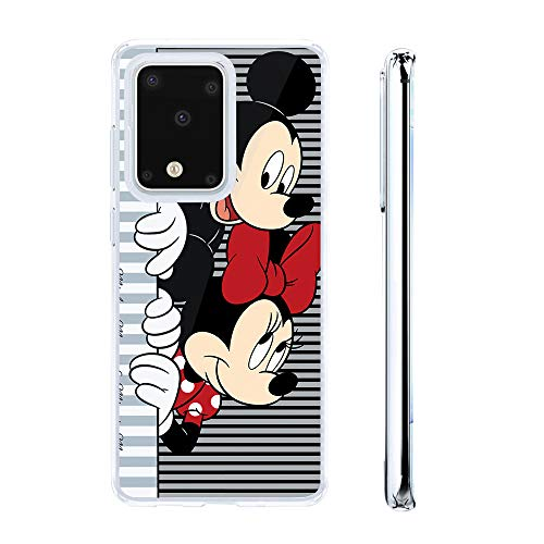 LOOKSEVEN Galaxy S20 Plus Case, Cute Cartoon Cover Silicone Anti-Scratch Mickey Mouse Minnie Cover Ultra Thin Shockproof Protective Cases Compatible with Galaxy S20 Plus (6.7 inch)#C
