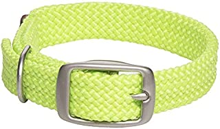 """Mendota Double Junior Collar, Lime, 9/16"""" Up to 14"""""""