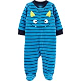 Carter's Baby Boys' Cotton Zip-Up Sleep N Play (3 Months, Monster/Bright Blue)