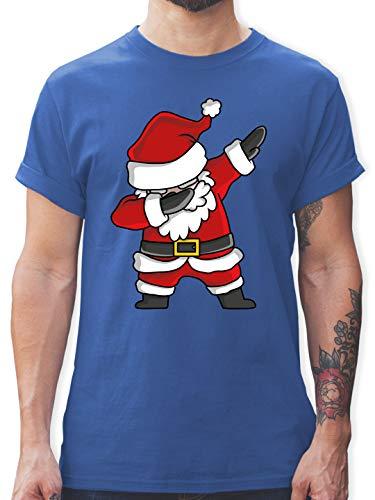 Weihnachten & Silvester - Dabbing Weihnachtsmann - XL - Royalblau - T-Shirt - L190 - Tshirt Herren und Männer T-Shirts