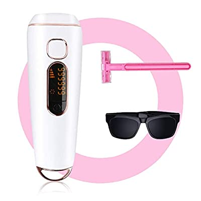 Hair Removal for Women and Man IPL hair removal UPGRADE to 999,999 Permanent Painless Flashes Facial body Profesional Hair Remover Device Hair Treatment Wholebody Home Use,Feeke B1 pro