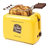 Nostalgia GCT2 Deluxe Grilled Cheese Sandwich Toaster with Extra Wide Slots, Yellow (Renewed)