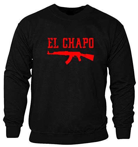 Nothingtowear Unisex EL Chapo Gun Fasioned Logo Dope Sweatshirt Jumper Schwarz M