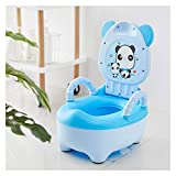XWX Petit Pot Bébé Formation Siège De Toilette Portable Pot Bébé for Les Enfants Potty Confortable Cartoon Pots Dossier Little Girl Toilettes Bedpan (Color : Blue)