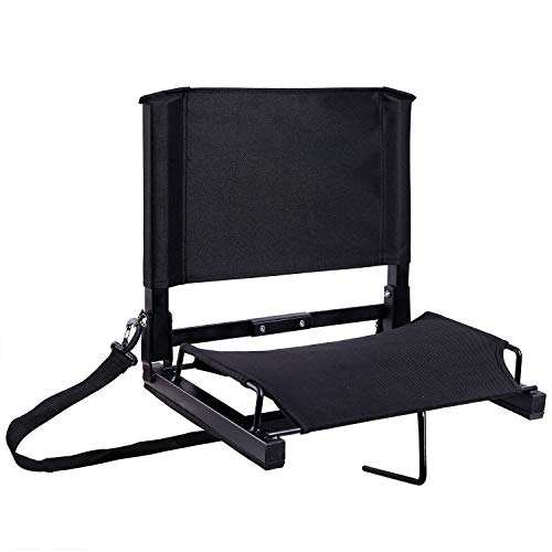 Ohuhu Stadium Seats/Stadium Chairs Bleacher Seats with Bungee Cord Cushion and Comfortable Backrest