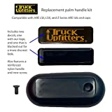 Era Truck Upfitters' are Replacement Palm Handle for LSII and LSX Tonneau Lid X Series and Z Series Camper Shell Bed Cover with Screw and Truck Upfitters Decal. Molded Plastic Version Only.