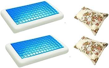 2 مخدة ميموري فوم بطبقة جل باردة مقاس 70× 40 سم مع 2 كيس مخدة مقاس 50× 75 سم من مون KPCM-015