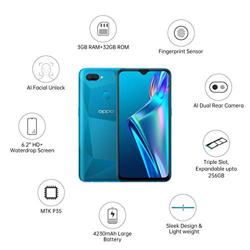OPPO A12 (Blue, 3GB RAM, 32GB Storage) with No Cost EMI/Additional Exchange Offers