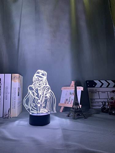 Luces de noche 3D para niños 16 colores de conversión de luz de matar armonía led luz de noche lámpara de juego Korekiyo Shinguji para decoración de dormitorio para niños regalo Korekiyo Shinguji luz