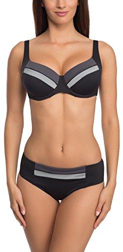 Feba Figurformender Damen Bikini 1N172LL (Schwarz, Cup 80 F/Unterteil 40)