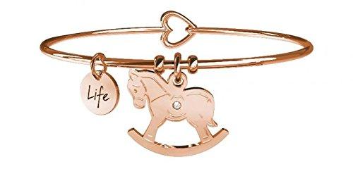 MABINA s.r.l. Kidult armband paard van staal roségoud