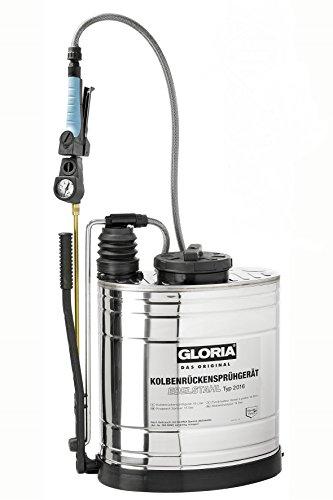 Gloria Typ 2016 - Mochila de pulverización con accesorios (acero inoxidable, 16 L)