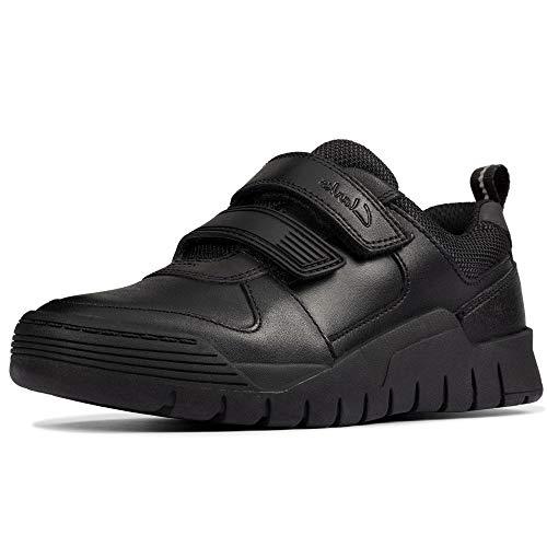 Clarks Scooter Speed K Boys School Shoes 33.5 Schwarz