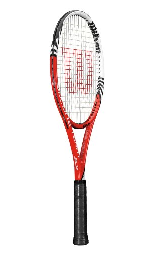 WILSON Tennisschläger Six.One Team BLX 18x20, rot/weiß, WRT71091U2