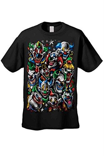 SHORE TRENDZ Men's/Unisex T Shirt Killer Clowns Short Sleeve Tee: Black...