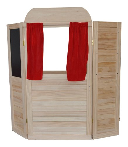 Woodyland 90201 - Kaufladen und Puppentheater Kombination aus Holz