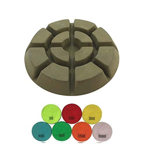 Transitional Concrete Grinding Pads - Set of 3 - #200 Grit Resin Bond - 3' Diameter