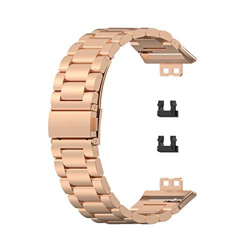Armband kompatibel für HUAWEI Uhr FIT Smart Watch, Edelstahl Ersatzband Armband für Männer Frauen
