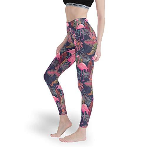 Mädchen Soft Ankle Leggings Ganzkörper Yoga Hosen Digital Capris Tights für LaufenFlamingo White 2XL