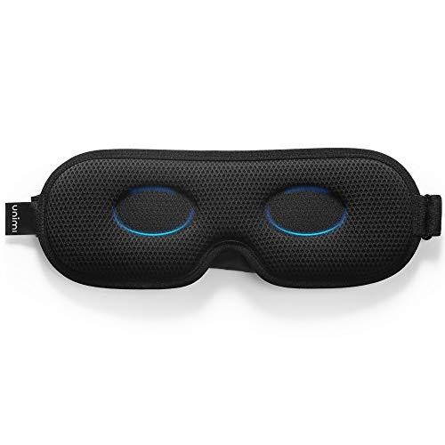 Unimi Schlafmaske mit neuem Design für Frauen & Männer, Ultradünne 3D-Lichtblockende Augenmaske, Atmungsaktiver Stoff, 360 ° ohne blinden Winkel zum vollständigen Blockieren von Licht Schlafmaske