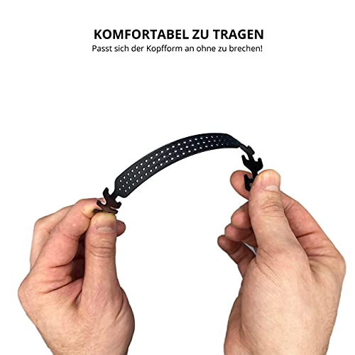 GIMEI Maskenhaken 10 Stück, Verlängerung für Mundschutz Ohrhaken Mundschutzhalterung Ohrschutz Anti-Rutsch Maskenverlängerung verstellbar, für Brillenträger geeignet, für Erwachsene & Kinder Schwarz