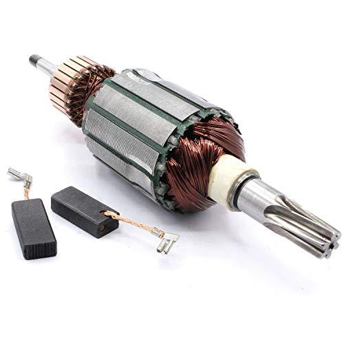 Anker Rotor Motor + Kohlebürsten passend für Makita HR4001C, HR4010C, HR4011C