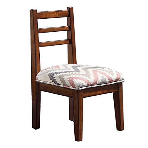 AZD Hartholz 3-Rung Ladderback-Stuhl, 11.8inch Naturstuhl, Gold-zertifizierter Kinderstuhl-Kinderstuhl für Kinder für Klassenzimmer