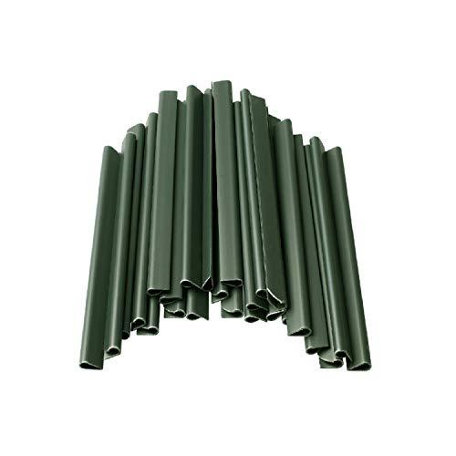 DAWIDU - 26 Befestigungsclips für Sichtschutzstreifen Grün - Einfache Montage, optimaler Halt & langanhaltender Schutz - Klemmschienen als Sichtschutz Befestigung an EIN- & Doppelstabmattenzaun
